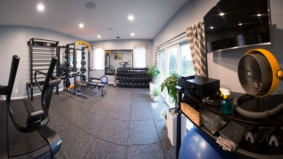 home remodeling projects include fabulous workout gym room addition