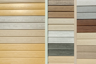 color selection samples for vinyl siding types