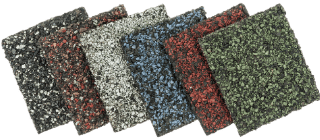 asphalt shingle roof types displayed in different colors