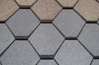 roofing types include rubber tiles of different shape and color
