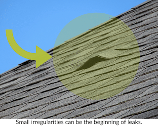 small irregularities require roof leak repair as soon as possible