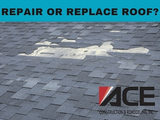 repair or replace roof for house with missing shingles