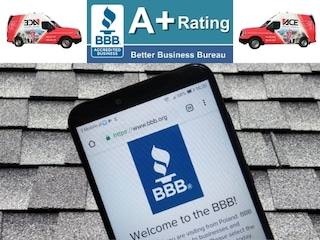 repair or replace roof with reputable contractor and a+ rating at bbb