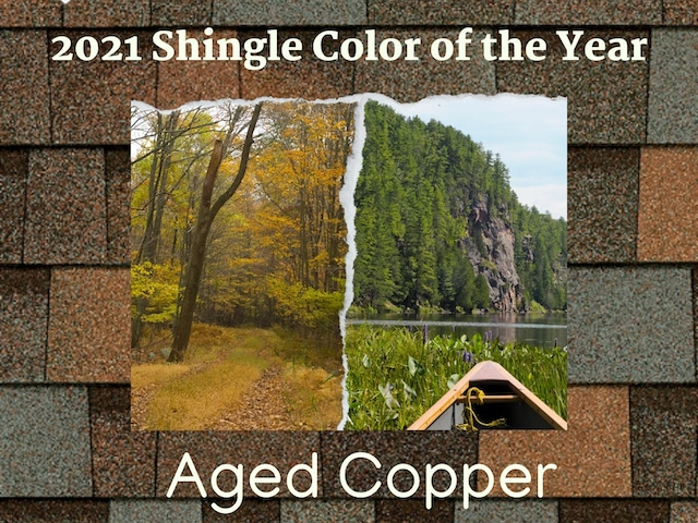 aged copper wins the 2021 owens corning shingle colors of the year