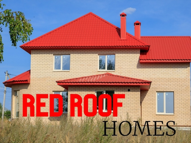 red roofing homes really make a statement to impress
