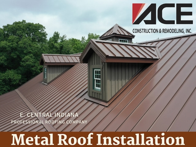 professional metal roof installation by ace construction and remodeling east central indiana